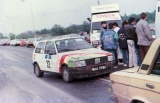 08. Fiat Uno Turbo załogi Jerzy Dyszy i Zbigniew Atłowski.