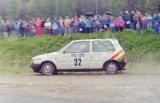 29. Jerzy Dyszy i Zbigniew Atłowski - Fiat Uno Turbo.