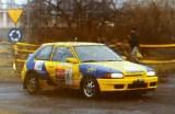 26. Marek Sadowski i K.Koński - Mazda Familia 323 GTX.