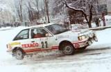 14. Sławomir Szaflicki i Andrzej Górski - Mazda 323 turbo 4wd.