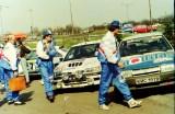 04. Nissan Sunny GTiR załogi Piotr Kufrej i Maciej Hołuj.