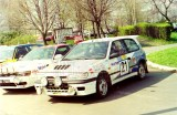 78. Nissan Sunny GTiR załogi Piotr Kufrej i Maciej Hołuj,