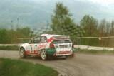 16. Robert Gryczyński i Tadeusz Burkacki - Toyota Corolla WRC.