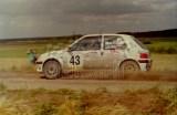 25. Adam Wrocławski i Wojciech Sikora - Peugeot 106 Rally..JPG