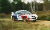 10. Leszek Kuzaj i Andrzej Górski - Subaru Impreza S4 WRC.