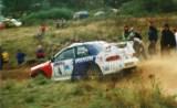 16. Leszek Kuzaj i Andrzej Górski - Subaru Impreza S4 WRC.