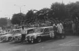 027. Renaulty 5 Turbo w parc ferme.