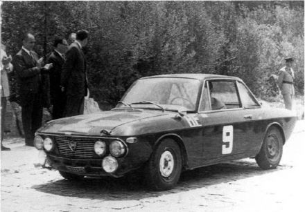 Ove Andersson i R.Dahlgren - Lancia Fulvia HF coupe.