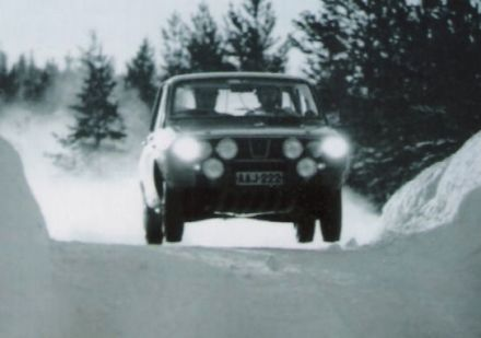 Polar Bergslags Rally.  8-9.01.1972r.
